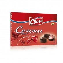 160 гр. шоколадови бонбони Сезони ягода Своге