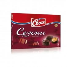 156.5 гр. шоколадови бонбони Сезони ром Своге