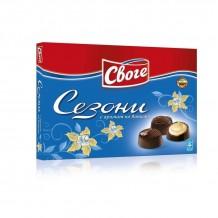 160 гр. шоколадови бонбони Сезони ванилия Своге