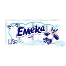 8 бр. тоалетна хартия  Emeka White