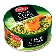 300 гр. пиле с грах консерва Компас