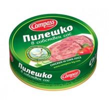 180 гр. пилешко в собствен сос Компас