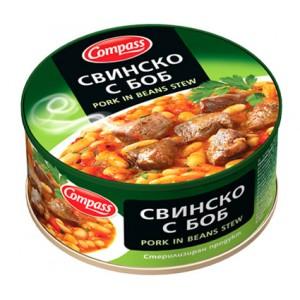 300 гр. свинско с боб консерва Компас
