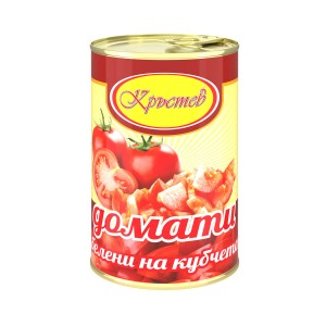 400 гр. домати на кубчета белени  Кръстев