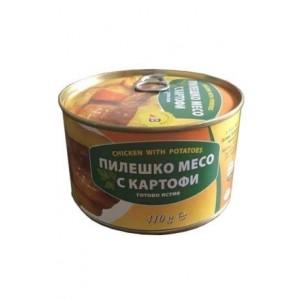 410 гр. Пиле с картофи консерва