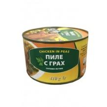 410 гр. Пиле с грах консерва