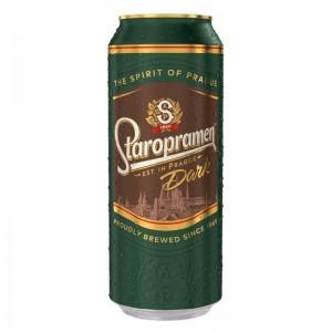 500 мл. бира тъмна Старопрамен кен