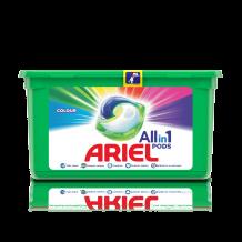 13 бр. капсули за пране Ariel Allin1 Pods Color