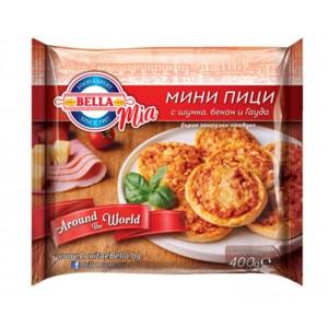 400 гр. БЕЛЛА Mia Мини пици с шунка, бекон и гауда