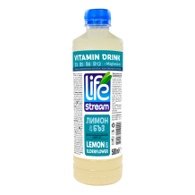500 мл. Витамизирана вода Life Steam Лимон и бъз