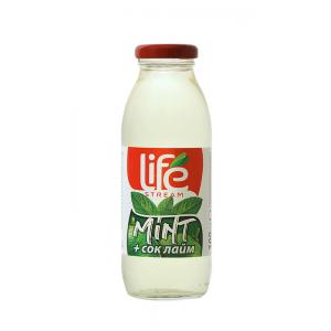300 мл. Билкова напитка Life Stream Herbal Лайм и мента
