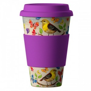 400 мл. Еко чаша от бамбук Птици BAMBOOCUP