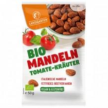 50 гр. Био печени бадеми с домати и аромат на билки Landgarten