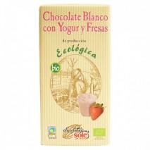 100 гр. Био бял шоколад с йогурт и ягода CHOCOLATES SOLЕ