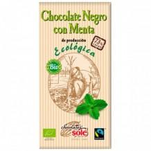 100 гр. Био черен шоколад 73% с мента CHOCOLATES SOLЕ