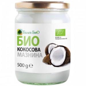 500 мл. Био сурова кокосова мазнина Балев Био