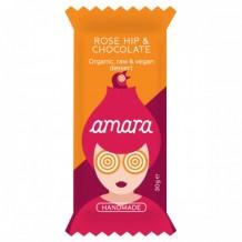 30 гр. Био суров веган десерт с шипки и шоколад Amara