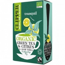 Био зелен чай с алое вера и цитрусов аромат CLIPPER TEAS (20 бр. x 2 гр. )