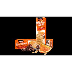 110 гр. Мюсли бисквити Боровец с портокал и тъмен шоколад