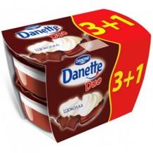 4 х 115 гр. DANETTE ДУО шоколад