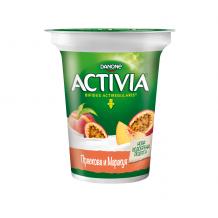 Danone АКТИВИА с плодове праскова и маракуя 280 г