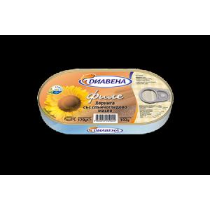 180 гр. Херинга в слънчогледово масло Диавена