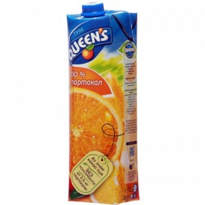 1 л. Натурален сок Queen's Портокал 100%