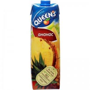 1 л. Натурален сок Queen's Ананас