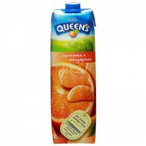 1 л. Натурален сок Queen's Портокал и Мандарина