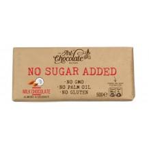 50 гр. Млечен шоколад без захар с бадем и кокос ELEGANT