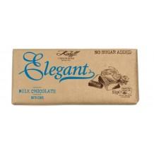 50 гр. Млечен шоколад с чия без добавена захар ELEGANT