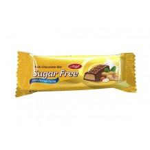 30 гр. Млечен шоколдов бар Sugar Free с фъстъчен пълнеж