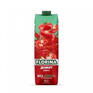 1 л. Натурален сок 100% Florina Домат