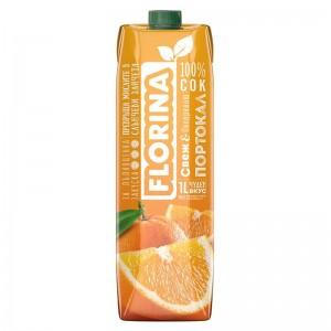 1 л. Натурален сок Портокал 100% Florina
