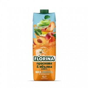 1 л. Натурален сок Праскова и Ябълка 100% Florina