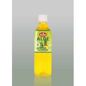 500 мл. Напитка Dellos Алое Вера с плодове ананас