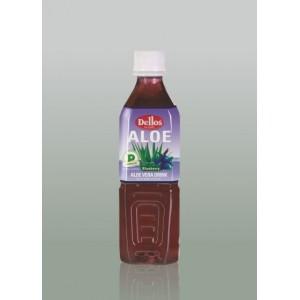 500 мл. Напитка Dellos Алое Вера с плодове боровинки