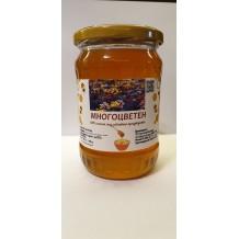 720 гр. Натурален пчелен Многоцветен мед ЗП Макавеев