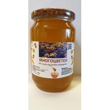 900 гр. Натурален пчелен Многоцветен мед ЗП Макавеев