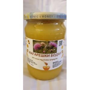 720 гр. Натурален пчелен мед от магарешки бодил ЗП Макавеев