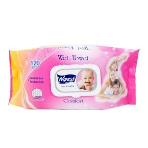 120 бр. Мокри кърпички Fresh Wipest розово/сини