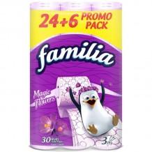 30 бр. Тоалетна хартия Familia Magic Flowers