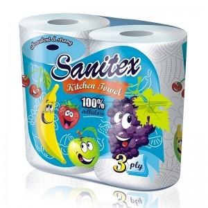 Домакинска хартия  Sanitex с аромат на плодове 2 бр.
