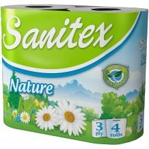 4 бр. Тоалетна хартия Sanitex Naturе