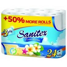 24 бр. Тоалетна хартия Sanitex Ocean