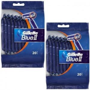 20 бр. Самобръсначка Gillette Blue II плик